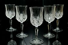 5 KELLARNEY CRYSTAL THISTLE SHAPED WINE / SHERRY GLASSES