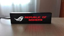 Logo iluminado para pc ASUS ROG led, GTX 1070, 1060, 970, 960, 1080, 660, RX