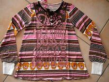 (290) Nolita Pocket Girls Langarm Shirt Perlmuttknöpfe & Glitzer Druck gr.110