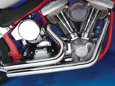 1984-06 Harley Davidson FXST Softail Radii Drag Exhaust Pipes Short Stuff Style
