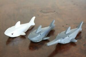 1x LEGO MINI FIGURE MINIFIG - Shark - Grey White or Sawfish Swordfish Excellent