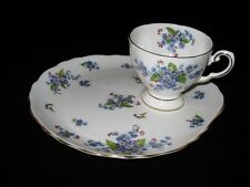 Tuscan Tea Serving Set 3 pc Fine English Bone China  Footed Cups Rare C9390