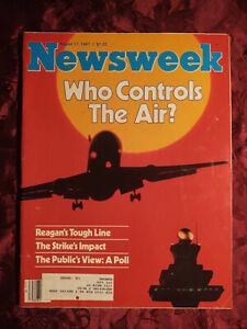 NEWSWEEK Magazine August 17 1981 Air Traffic Controllers Santa Fe Opera