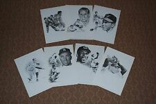 Group of (7) Diff 1963-1973 Equitable Sports Hall of Fame Art Prints-NM