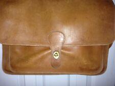 Vintage COACH British Tan Leather Briefcase Shoulder Business Laptop Bag USA 210