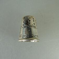 Fingerhut schön verziert 925er Sterling Silber (47349)