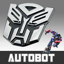 Transformer Autobot 3D S Chrome Badge Logo Sticker Bike Car Racing Optimus Prime