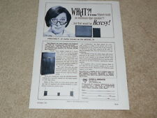 Klipsch Heresy Speaker Ad, 1967, 1st One! Article, Klipschorn also, 1 pg