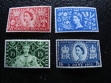 ROYAUME-UNI - timbre yvert/tellier n° 279 a 282 n** (A8) stamp united kingdom