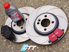 Mini Cooper S R56 GP JCW Ranurado Delantero Discos De Freno Gtt spiroslot, Almohadillas De Kevlar