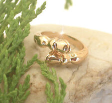 HORSE & WESTERN JEWELLERY JEWELRY LADIES HORSE HOOVES RING GOLD FREE SIZE