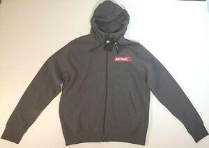Nike JDI Full Zip Hoddie Mens Size Small Gray Red Sweatshirt BV5068-01 Brand new
