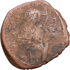 JESUS CHRIST Class C Anonymous Ancient 1034AD Byzantine Follis Coin   i27559
