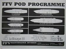 4/81 PUB FFV MAINTENANCE SWEDEN UNI-POD POD CANON ROCKET IRLS RECON ORIGINAL AD