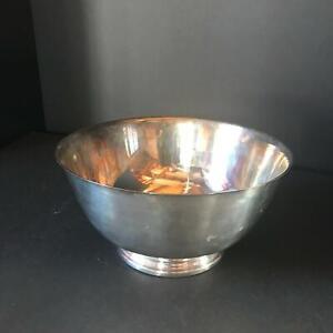 "8"" Vintage Oneida Silver Plate Paul Revere Reproduction Bowl"