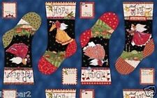 "1 South Sea ""Angels From Above"" Christmas Stocking  Fabric Panel 23"" x 44"""