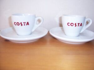 2 x Costa  Single Espresso cups and saucers. Excellent condition
