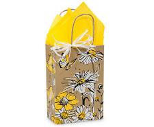 100 Brown Kraft paper shopping bags Flower Print quality wholesale 5x3x8 Rose