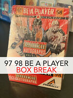 60% GONE BOX BREAK 97-98 BE A PLAYER - 16 AUTOS - RANDOM TEAMS - FREE Shipping!