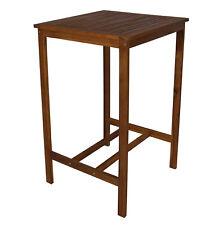 Bartisch Indra Akazienholz Gartentisch Garten Bar Tisch Möbel Outdoor Stehtisch