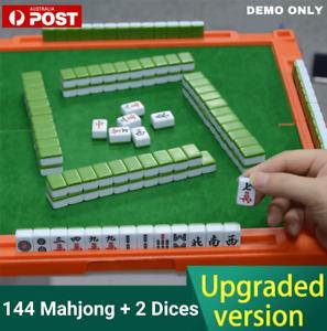 MahJong Game Set 1KG Chinese Mahjong Rare Game 144 Tiles Mah-Jong Set Party Game