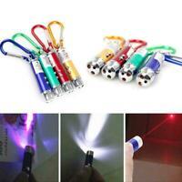 Haustier Katzenspielzeug LED Laserpointer Schlüsselbund Farbe Katze Zufälli N0I9