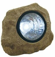Moonrays 91211 Solar Powered Rock Spotlight with Key Hider Garden Accent