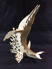 Laser Cut Wooden Humpback Whale Model/Puzzle Kit