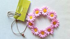 New!! HANDMADE Pink Daisy Headband Daisy Duke Floral Daisy Hairband Crown