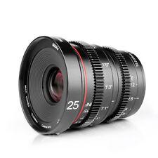 Meike 25mm T2.2-22 Manual Focus Prime Cinema Lens for Panasonic Olympus MFT M4/3