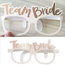 10x TEAM BRIDE GLASSES - HEN NIGHT PHOTO PROPS Vintage Hen Party Accessories