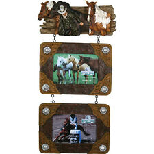 Cowboy and Horses Two Photo Picture Frame