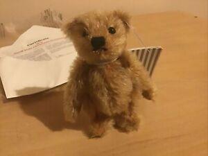 Steiff Christmas Ornament Bear 10cm Mohair/Cotton Certificate Pre Owned