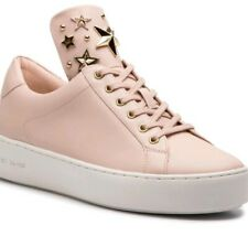 Michael Kors shoes woman low sneakers sz 9 MINDY LACE UP ROSE