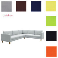 Custom Made Cover Fits IKEA Karlstad 2+3/3+2 Corner Sofa, Clearance