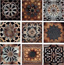 Old World Kitchen Back Splash Ceramic Decorative Accent Tile Set of 9 Artistic