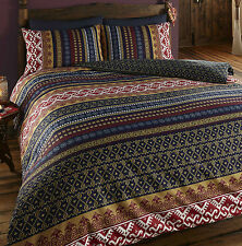 De Cama Ethnic Indian Print Duvet Cover With 2 Pillow Cases King