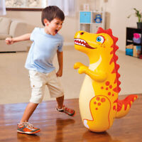 "38"" 3D Inflatable Dinasour Toy Bop Bag Interactive Toys for Children Big Tumbler"