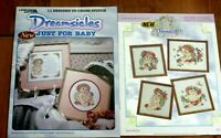 2 Dreamsicles Counted Cross Stitch Leaflets Just For Baby & Dreamsicles Book 1