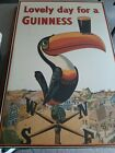 Awesome Vintage Wood Beer Sign Plaque ~ Lovely Day for a Guinness w/Toucan