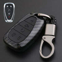 Carbon Fiber Design Shell+Silicone Cover Holder Fob Case For Holden Remote Key E
