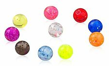 Brand New! High Quality Barbell  Spare Acrylic Bead Replacement Screw Balls