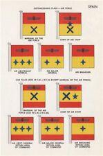 SPAIN AIR FORCE CAR FLAGS. Marshal. Air Lieut-/Major-General. Air Brigadier 1958