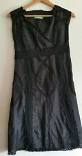 ALMOST FAMOUS Black Crochet Applique Embroidered Lace Combined Dress UK 10, New