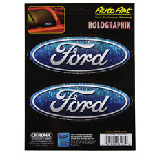 Original Ford Pflaume Logo USA Holografik Glitzer Aufkleber Sticker Decal 2 St.