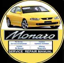 HOLDEN MONARO V2 COUPE 2001-2002 V6 V8 LS1   WORKSHOP SERVICE MANUAL CD