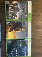 Halo Reach, HALO 3, HALO 3 Odst. LOT 3 XBox 360 GAMES Tested