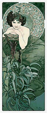 10% off Scarlet Quince Counted X-stitch Chart - Emerald by Alphonse Mucha-Reg Pr