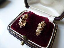 Rares boucles d'oreilles arlésiennes perles  dormeuses anciennes Or 18 carats
