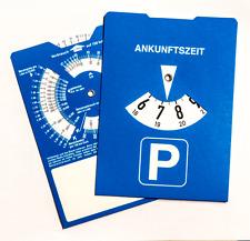 3 Stück Parkscheiben mit Benzinrechner, ohne Werbung, StVO Parkscheibe blau NEU